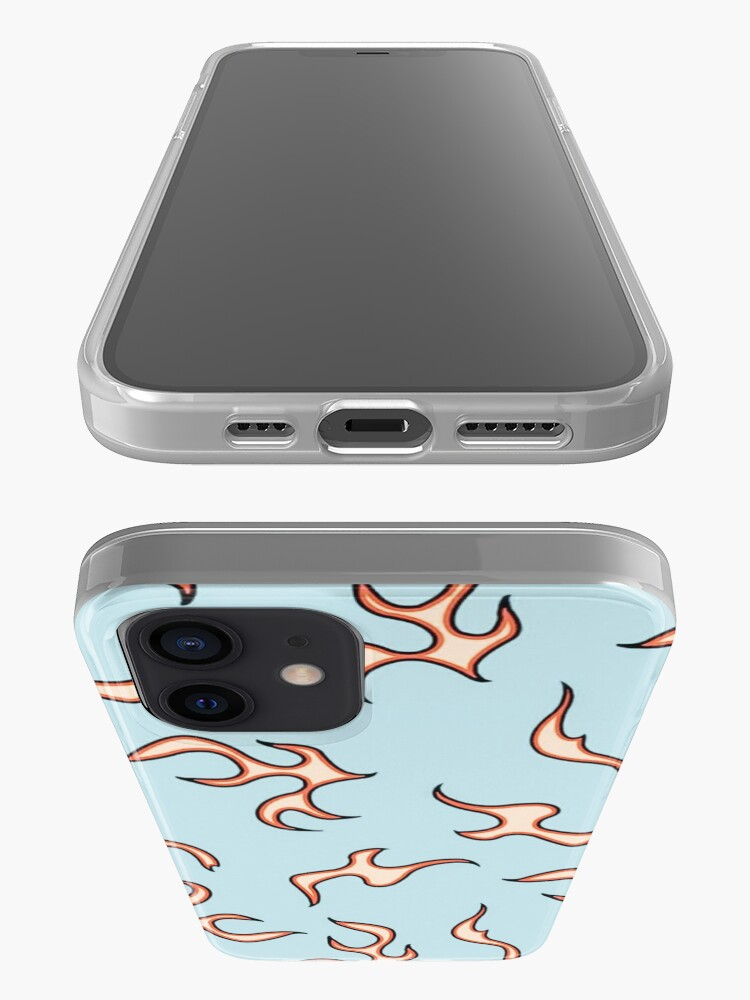Alternate view of aesthetic flames (blue) iPhone Case & Cover