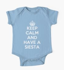 keep Calm and Have a Siesta One Piece - Short Sleeve