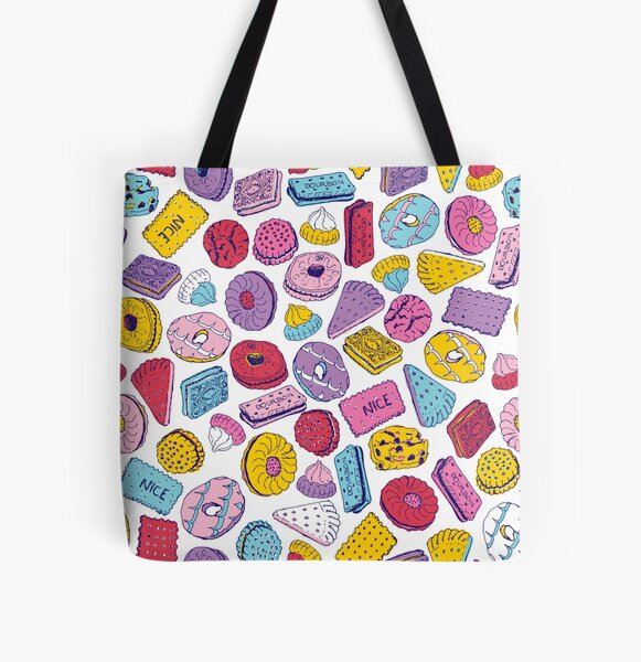 Biscuit Crazy All Over Print Tote Bag