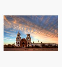 Majestic Sunset Mission San Xavier Del Bac Photographic Print