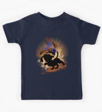 Super Smash Bros. Tan Duck Hunt Dog Silhouette Kids Tee