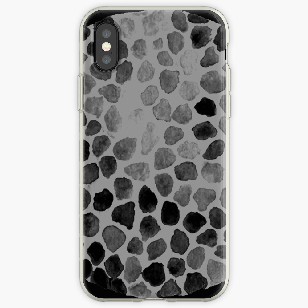 Black Flower Cells iPhone Case & Cover