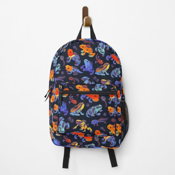 Poison dart frogs - dark Backpack