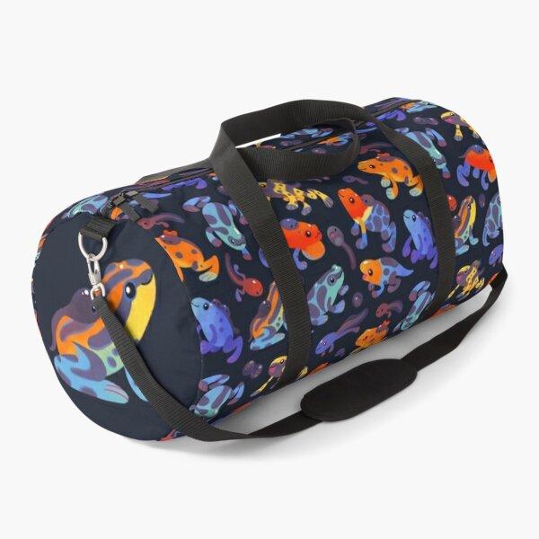 Poison dart frogs - dark Duffle Bag