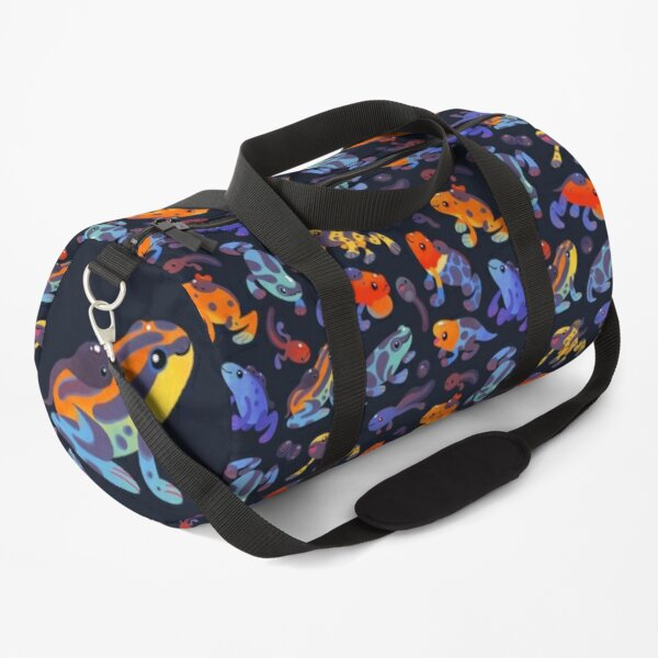Poison dart frogs - dark Duffle Bag