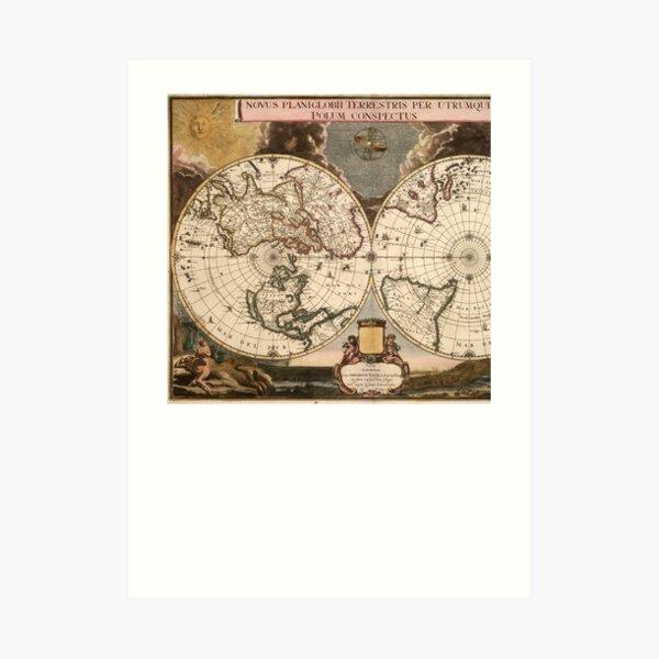 Novus Planiglobii terrestris per utrumque polum conspectus Art Print