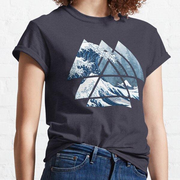 Los Grandes Triángulos de Geometría Sagrada - Misty Forest Wave Camiseta clásica