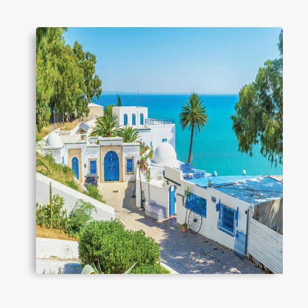 Sidi bou dijo Túnez Lienzo