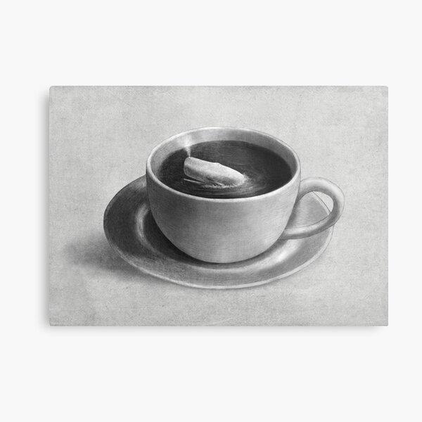 Whale in a Teacup  Metal Print