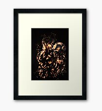 There's a fire burning Framed Print