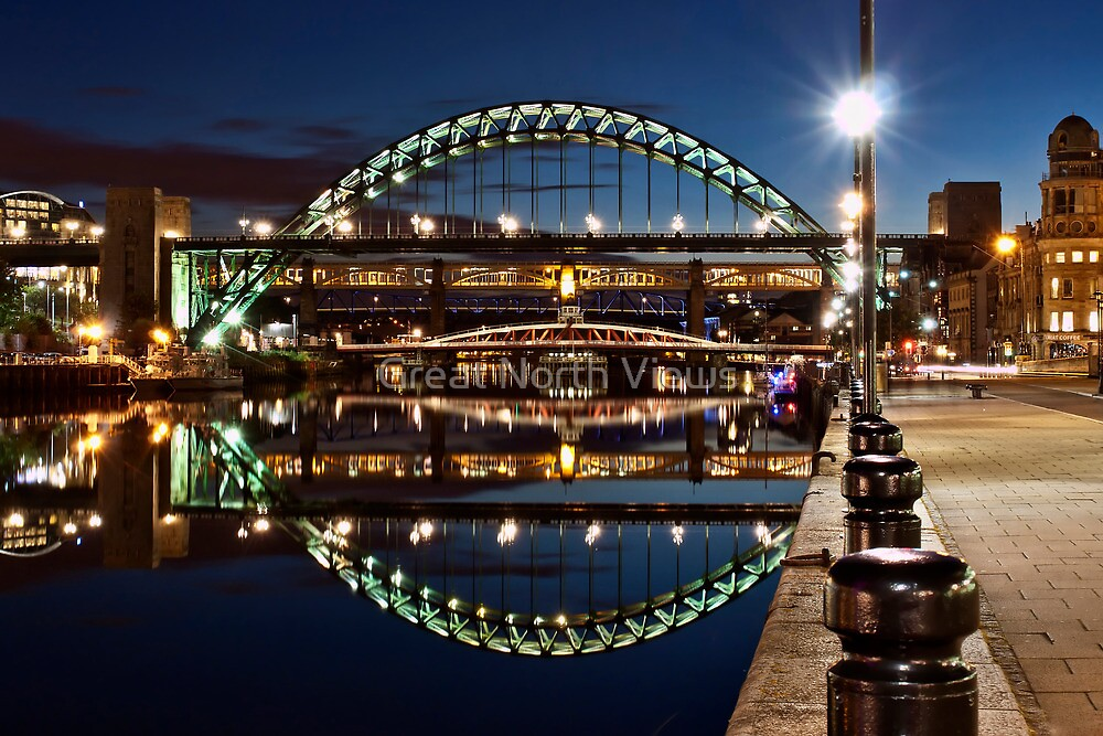 Tyne Bridge At Newcastle by Great North Views