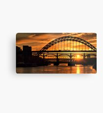 Newcastle at Sunset Metal Print