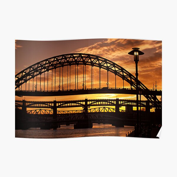 Newcastle at Sunset Poster