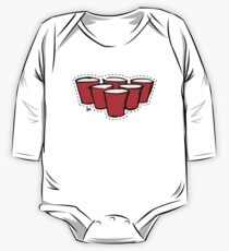 Beer Pong Cutout One Piece - Long Sleeve