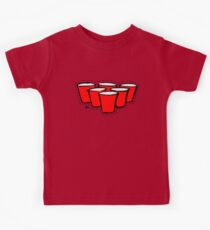 Beer Pong Cutout Kids Tee