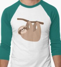 Cute Sloth on a Branch Men's Baseball ¾ T-Shirt
