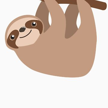 Cute Sloth on a Branch by blackunicorn