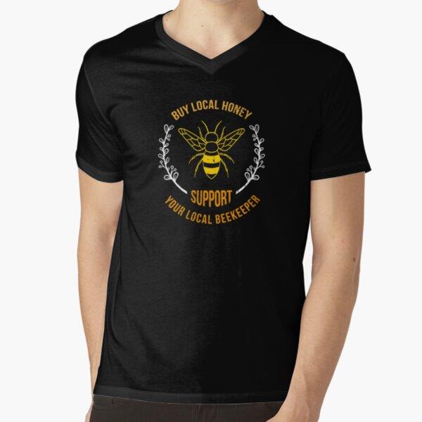 Honigbiene Bienen Imker Honig Design T-Shirt mit V-Ausschnitt