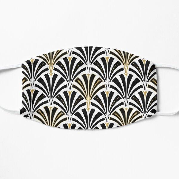 Art Deco fan pattern, black and white Flat Mask