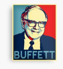 Lámina metálica Warren Buffett  Hope Poster