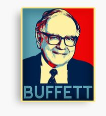 Warren Buffett  Hope Poster Canvas Print