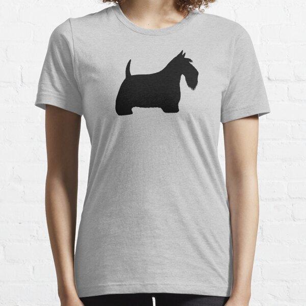 Scottish Terrier Silhouette(s) Black Scottie Dog Essential T-Shirt