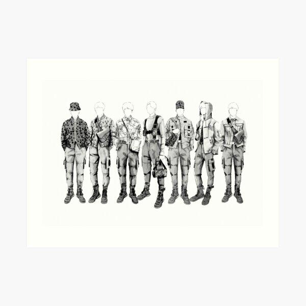 BTS Mic Drop Dior Outfits Art Print