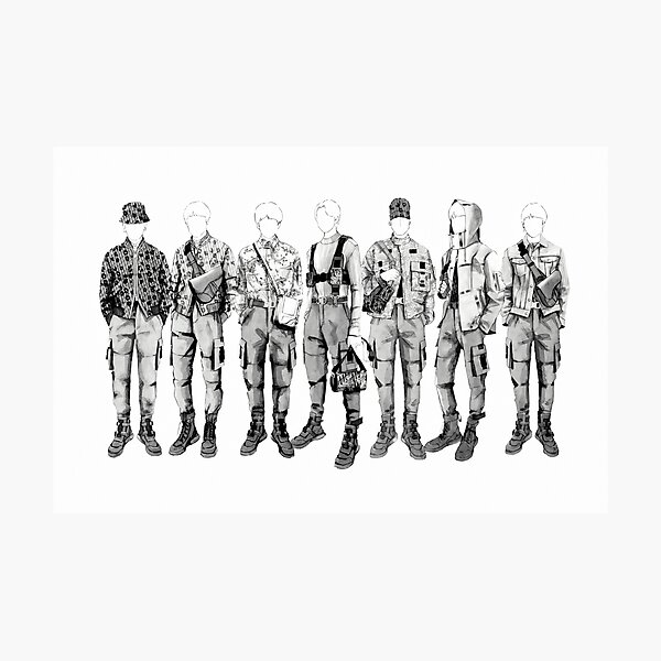 BTS Mic Drop Dior Outfits Photographic Print