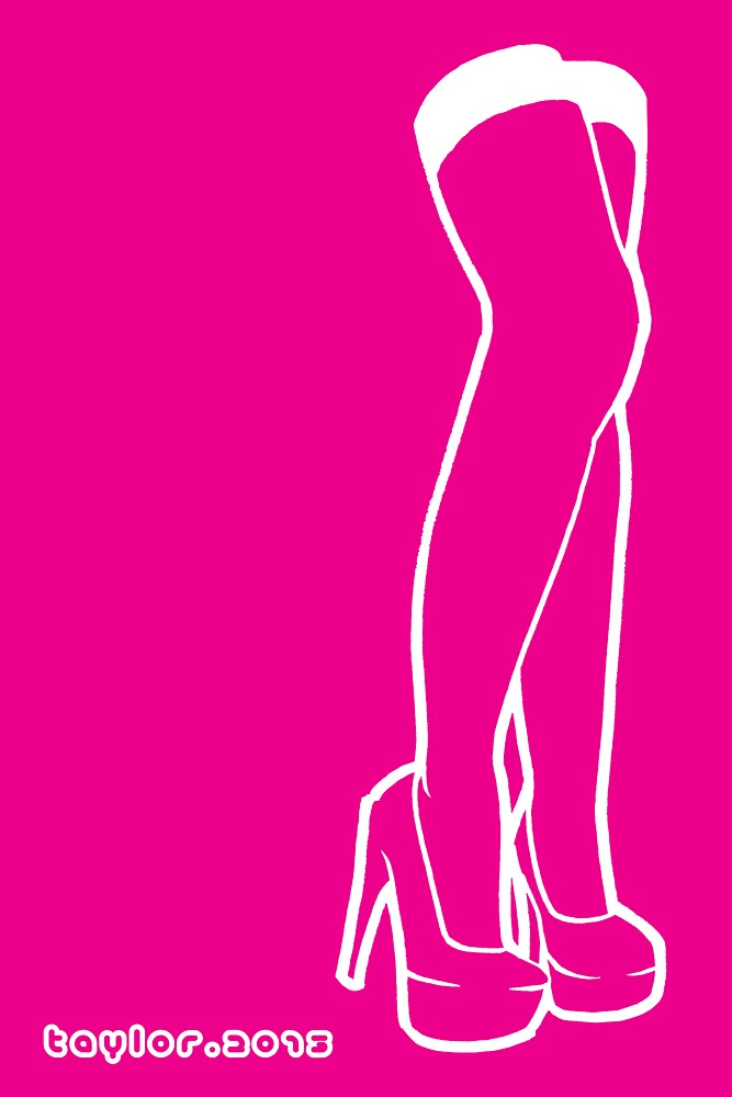 Hot Pink Legs 03 by Bret Taylor