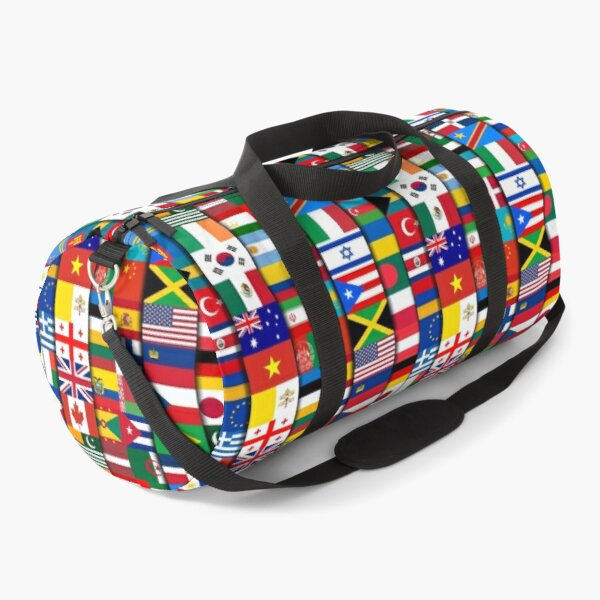 60 Flags of the Countries of the World, International Gift Duffle Bag