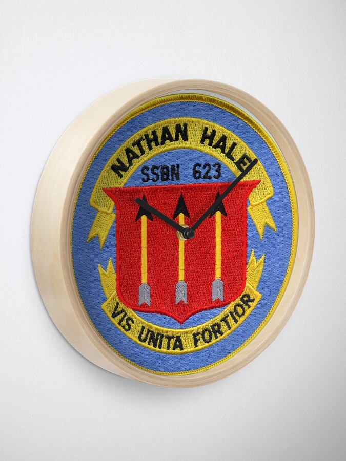Alternate view of USS NATHAN HALE (SSBN-623) SHIP'S STORE Clock