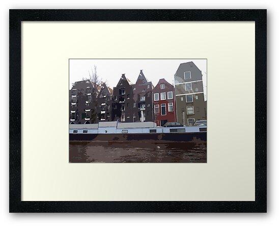 Houses of Amsterdam by Lorren Stewart