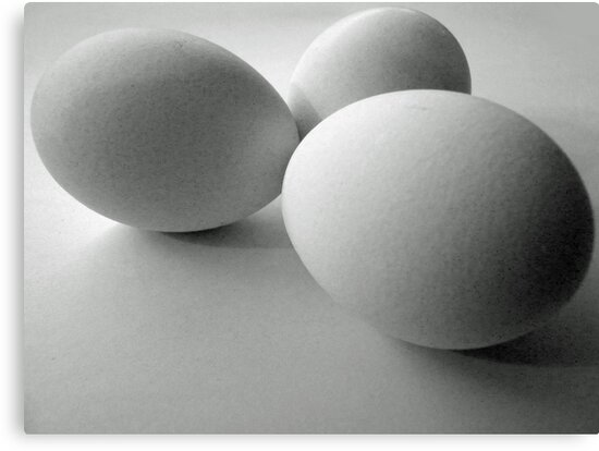 Three white eggs by bubblehex08