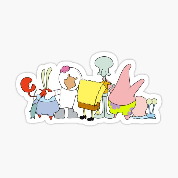 Spongebob Cast Sticker Sticker