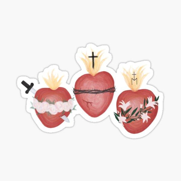 Holy Family Hearts Sticker
