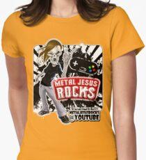 Undead Rocker - Metal Jesus Rocks (YOUTUBE) Womens Fitted T-Shirt