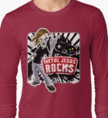 Undead Rocker - Metal Jesus Rocks Long Sleeve T-Shirt