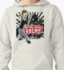 Undead Rocker - Metal Jesus Rocks Pullover Hoodie