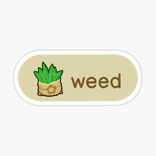 Animal Crossing Weed Sticker