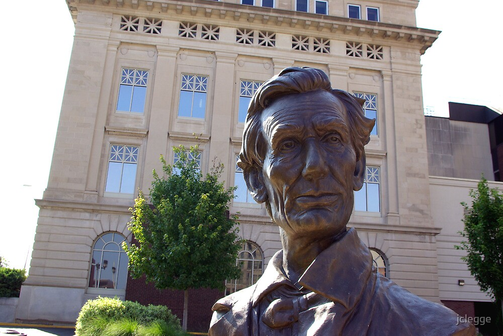 LINCOLN BEFORE THE COURTHOUSE by jclegge