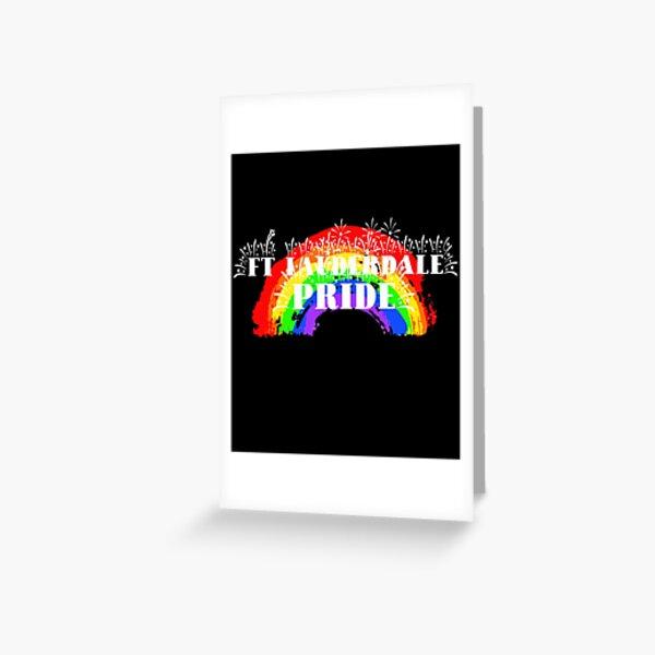 Ft. Lauderdale Gay Pride Rainbow Greeting Card
