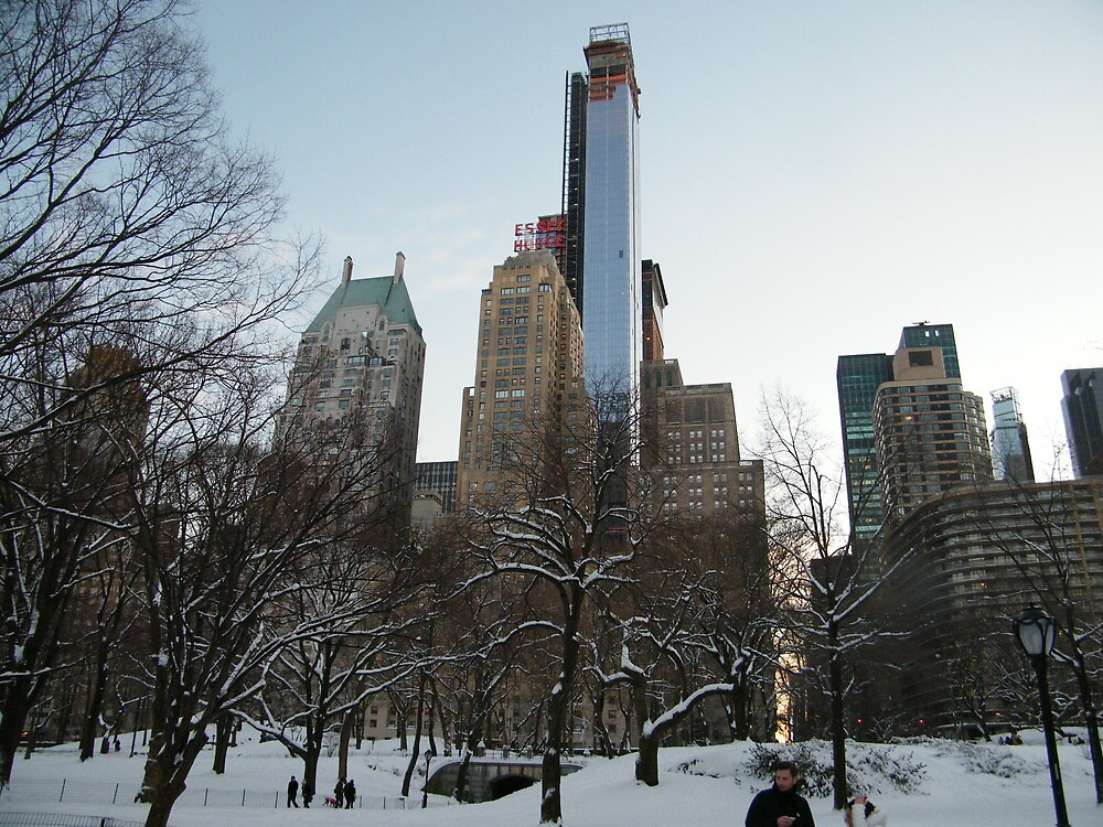 One57 Skyscraper, As Seen from Central Park South, New York City by lenspiro