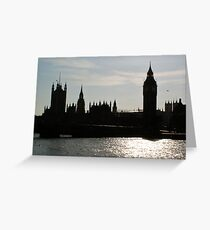 Famous Silhouette (London) Greeting Card