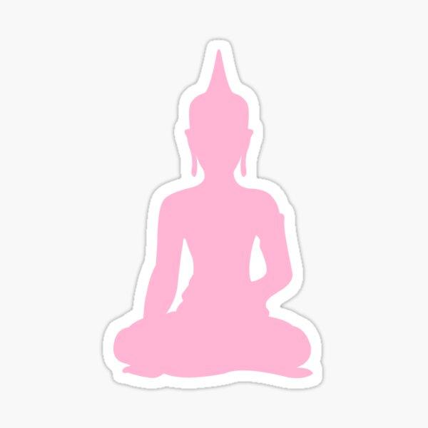 Pastel Candy Buddha Sticker