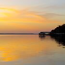 Sunset at Shands by Caren
