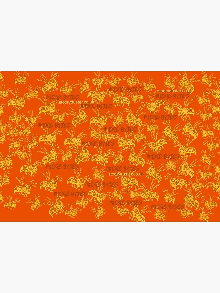 Midge Bytes Orange Mask. by Stooryduster