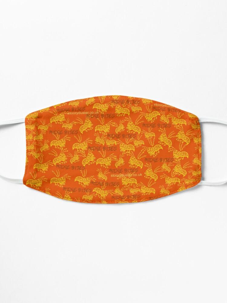 Alternate view of Midge Bytes Orange Mask. Mask