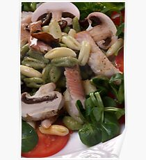 Salad With Cavatelli Misti And Smoked Trout Poster