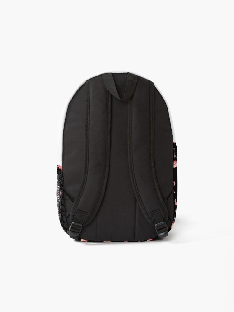 Alternate view of Flamingo Pattern - Black Backpack