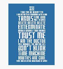 The Doctor Tardis Grunge version Photographic Print